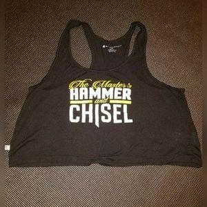 Master's Hammer & Chisel Crop Top Tank